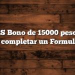 ANSES Bono de 15000 pesos  Hay que completar un Formulario