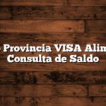 Banco Provincia VISA Alimentos Consulta de Saldo