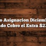 Bono Asignacion Diciembre :  Cuando Cobro el Extra $23.000