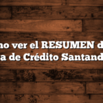 Cómo ver el RESUMEN de la Tarjeta de Crédito Santander Río