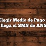 Como Elegir Medio de Pago IFE  No me llega el SMS de ANSES
