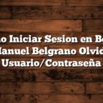 Como Iniciar Sesion en Becas Manuel Belgrano  Olvide Usuario/Contraseña