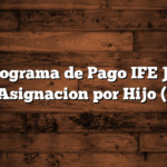 Cronograma de Pago IFE Junio para Asignacion por Hijo (AUH)