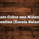 Cuánto Cobra una Niñera en Argentina  (Escala Salarial )