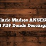 Formulario Madres ANSES P.S 2. 73 PDF  Donde Descargar