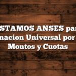 PRESTAMOS ANSES para la Asignacion Universal por Hijo: Montos y Cuotas