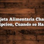 Tarjeta Alimentaria Chaco : Inscripcion,  Cuando se Habilita